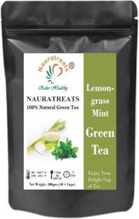 Nauratreats Lemongrass Green Tea with Mint Iced Herbal Tea 100gm Lemon Grass, Mint Green Tea Pouch