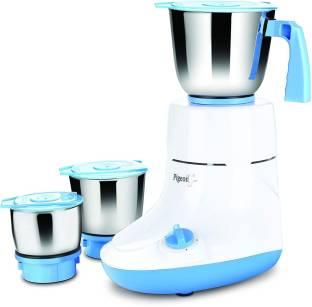 Pigeon Glory 550 W Mixer Grinder Combo_14453 550 Juicer Mixer Grinder (3 Jars, White, Blue)