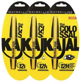 Maybelline Colossal Kajal Black (pack of 3) 1.5 g