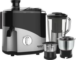 MAHARAJA WHITELINE Odacio Plus JX1-157 550 W Juicer Mixer Grinder (3 Jars, Black, Grey)