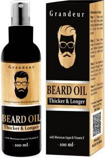 Grandeur Mooch And Beard Growth Oil For Men 100ml with Vitamin E and Argan Oil Hair Oil