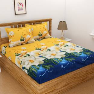 HOME STAR 140 TC Microfiber Double Floral Bedsheet