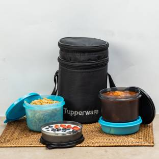 TUPPERWARE Xtreme Executive Lunch Set 4 Containers Lunch Box