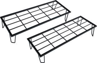 orchid engineers Metal Flower Pot Stand/Planter Stand Rack for Home - 28 inches (Set of 2) Plant Container (Metal, External Height - 10 cm) Plant Container Set