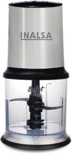 Inalsa Mini Chopper Bullet Inox-450W with Variable Speed &100% Pure Copper Motor Dual Layered Blade & 500ml Capacity Electric Vegetable & Fruit Chopper