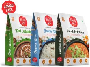 Ready 2 Bite Ready to Eat Dal Makhani, Jeera Rice, Punjabi Rajma Combo Pack 850 g