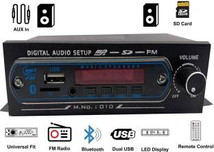 SHOPDAY Mp3 With Dancing Led Car Stereo BLUETOOTH, USB, MP3, SD-MMC, AUX Car Stereo 4440 Double IC Car Stereo