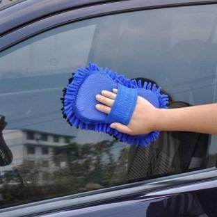 mitsu Vehicle Washing Hand Glove Wet and Dry Duster