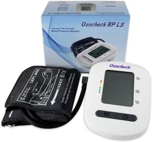 Ozocheck Fully Automatic Digital Blood Pressure and Pulse Rate Monitor For Accurate Results along with batteries BP1318 Bp Monitor