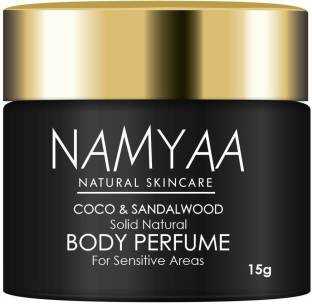 Namyaa Solid Natural Body Perfume for Sensitive Areas- Underarms, Neck