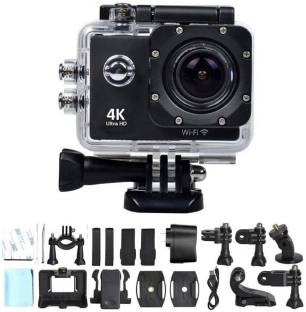 pentroclick 1080P 1080P action camera 1080P 2-inch LCD 140 Degree Wide Angle Lens Waterproof Diving (U...