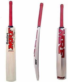 MRF Genius Sticker Poplar Willow Cricket =bat   Size Full SH 33.5 inches Poplar Willow Cricket  Bat