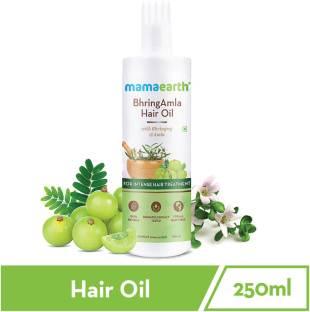 MamaEarth BhringAmla Hair Oil with Bhringraj & Amla for Intense Hair Treatment – 250ml Hair Oil
