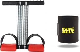 Shopeleven combo double srping Tummy Trimmer & sweat belt body Ab exerciser Home,Gym kit ZC3 Ab Exerciser