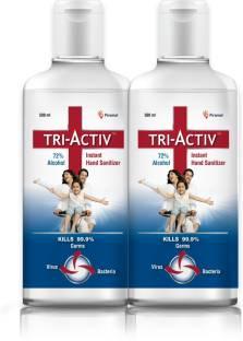 Tri-Activ 72% Alcohol Based Instant  Hand Sanitizer Bottle
