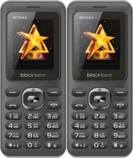 BlackBear B5 Click Plus Combo of Two Mobiles