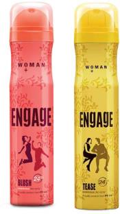 ENGAGE Blush and Tease Deodorant Spray Pack of 2 (150ml each) Deodorant Spray  -  For Women