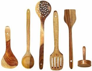 Modern Shoppee S06 SPOON6 Brown Kitchen Tool Set