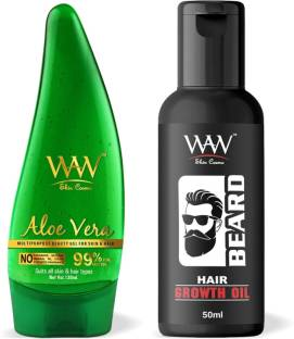 Waw Skin Cosmo 99 Pure Aloe Vera Gel With Hair Growth Hair Oil Best Combo Kit Price In India Buy Waw Skin Cosmo 99 Pure Aloe Vera Gel With Hair Growth