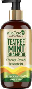WishCare Tea Tree Mint Shampoo - Cleansing Formula