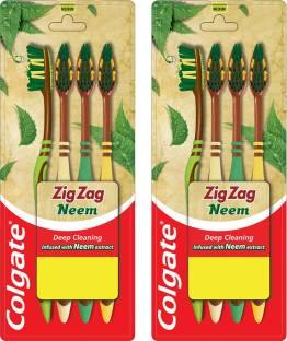 Colgate ZigZag Neem M Combo Packs Medium Toothbrush