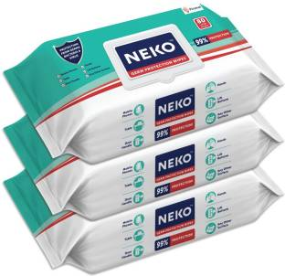 NEKO Germ Protection Wipes for Multi-surfaces | Large (200 mm X 200 mm) - Lid Pack