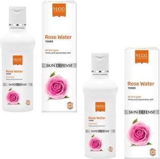 VLCC Rose Water Toner Pack of 2 Men & Women