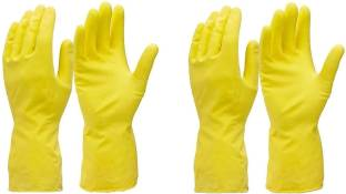 Flipkart SmartBuy Reusable Rubber Cleaning Hand Gloves for Washing, Cleaning Kitchen, Gardening Wet and Dry Glove Set