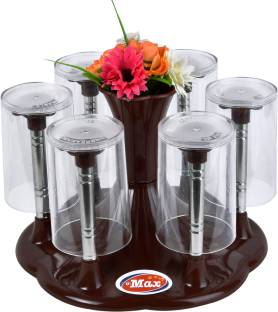MAX Glass Stand Delux Brown Color Plastic Glass Holder