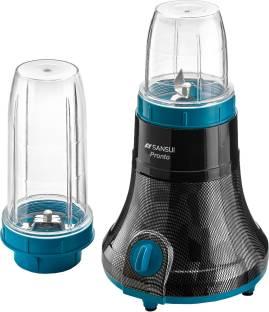 Sansui ProHome Pronto 400 W Juicer Mixer Grinder (Black, Blue, 2 Jars)