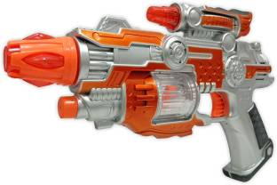Toyshack Light Up Spin Ball Blaster Toy Gun with Thrilling Multicolor LEDs and Sound Effects, Really Cool Play Gun for Boys and Girls Diwali Gun
