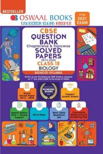 Oswaal Cbse Question Bank Class 12 Biology, Chapterwise & Topicwise Solved Papers, (Reduced Syllabus) (for 2021 Exam)