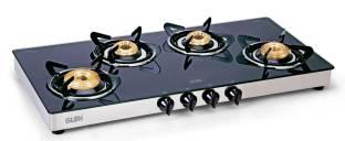 GLEN 4 Burner 1044 GT XL HF BB Stainless Steel Manual Gas Stove