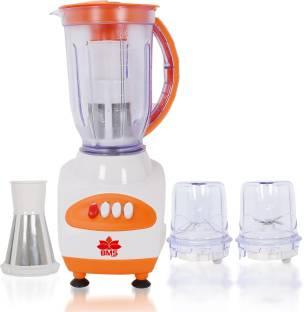 BMS Lifestyle juicer Compact Powerful WITH FRUIT FILTER JAR 300 Juicer Mixer Grinder (3 Jars, Orange)