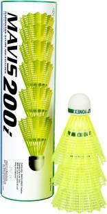 Yonex Mavis 200i Green Cap Nylon Shuttle   Yellow