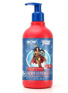 WOW SKIN SCIENCE Kids Body Lotion - SPF 15 - Golden Warrior Wonder Woman Edition - No Parabens, Color, Mineral Oil, Silicones & PEG - 300mL