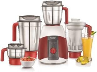 Prestige 42502 Elegant 750 V2 750 Juicer Mixer Grinder (4 Jars, Red)