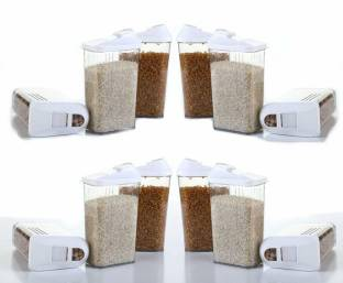 MOUNTHILLS Every Kitchen Choice Easy Flow Container Container with Spoon Airtight Kitchen Containers /...