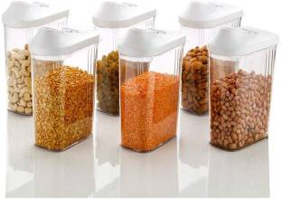 MOUNTHILLS Plastic Easy Flow Container Kitchen Storage Containers, Airtight Kitchen Containers, Plasti...
