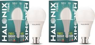 Halonix 10W Round B22 Neo Radar Motion Sensor bulb Pack of 2