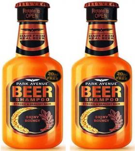 PARK AVENUE NEW SHINY & BOUNCY Beer Shampoo 370 ml × 2 Pack Of Two