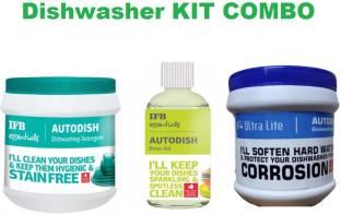 IFB dishwasher Detergent + RINSE AID + ultralite dishwashert salt ( 1 kg salt + 1 kg detergent + 200 ML RINSE AID)) Dishwashing Detergent