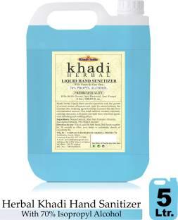 Khadi Herbal Hand sanitizer 70 % IP ALCOHOL liquid 5 ltr Hand Sanitizer Can