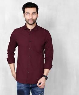 5TH ANFOLDMen Slim Fit Solid Casual Shirt