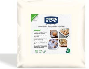 PerriPack Non-Stick Butter Paper for Baking, Cooking & Food Wrapping (100 Sheets) Original by Radiant Collection Parchment Paper