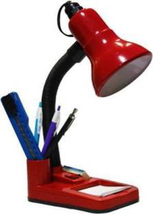 pooshu Red Study lamp Desk Light for School and College Students Table Lamp