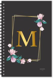 ESCAPER M letter diary (Ruled - A5), M initial Diary, M alphabet diary A5 Diary Ruled 160 Pages
