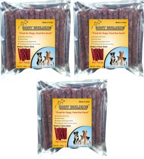 BODY BUILDING Dog Food Combo of 3 (450g Each) Mutton Flavor Chew Stick Treat the Dogs, Feed the Good M...