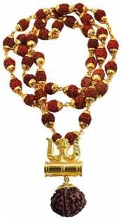 TIRUPATI Deals Loard Shiv VinaashKari Shakti Kavach 5 Mukhi Chamtkaari Rudraksha Mala With Shiv Trishu...