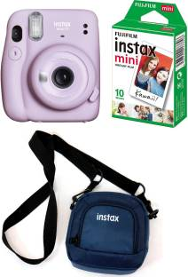 FUJIFILM Instax Mini 11 Purple with Pouch and 10 Shot film Instant Camera